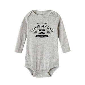 I Love My Dad Best Dad  Long Sleeve Rompers - Sofizara