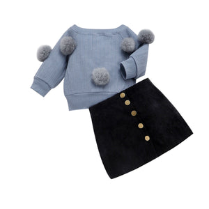 Pudcoco  Pom Long Sleeve Outfits - Sofizara