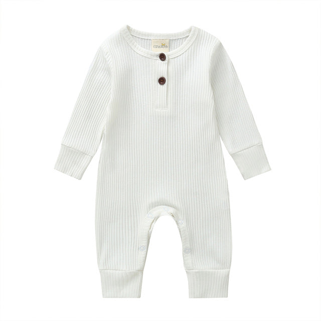 Emmababy Romper Knitted Ribbed Jumpsuit - Sofizara