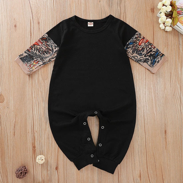 Mengoqq Sleeves Baby Print Clothes 3-24M - Sofizara