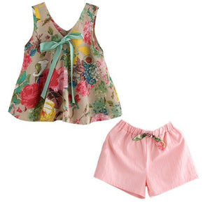 Girls Summer Floral Outfit - Sofizara