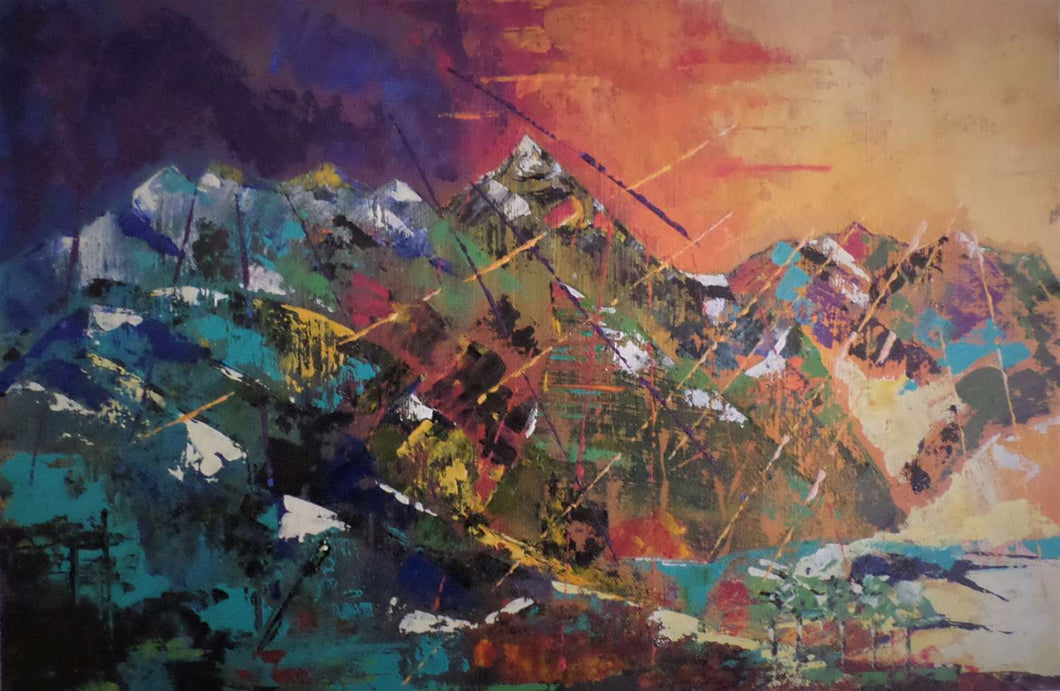 Endless Mountain - Irma Engelbrecht - Kunst - Abstract - Südafrika - Landscape