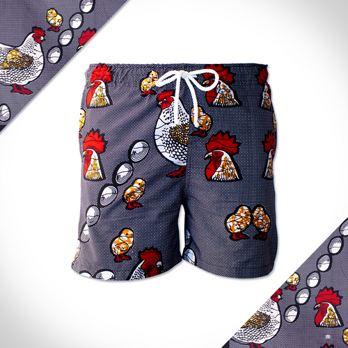 Afrika Shorts Retro Rooster