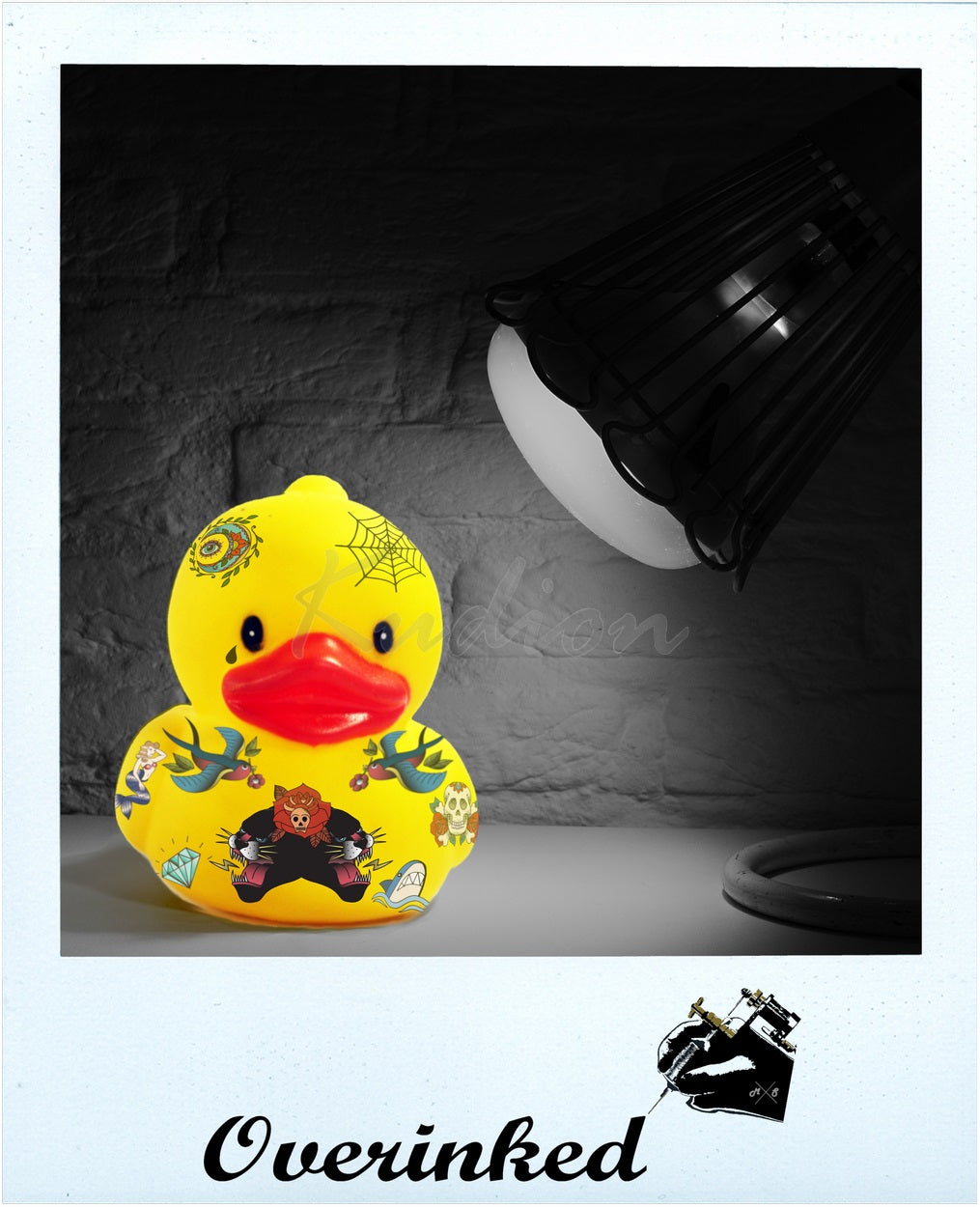 Kunst Tattoo - Digitale Kunst - Contemporary Art - Modern Art - Overinked - Fabian Stier - Ente - Quietscheentchen - Rubber duck - entchen - Ente - Duck - Rubber Duck - Art - Modern