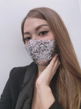 Load and play video in Gallery viewer, Luxurious Shiny Sequins (New Colors) 100% Pure Cotton Mask