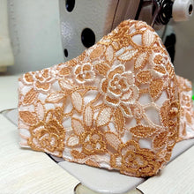 Load image into Gallery viewer, Beautiful Lace Pattern Mask With Nose Wire