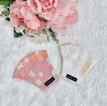 Load image into Gallery viewer, Embroidered Cute Flowers 100% Pure Cotton Mask