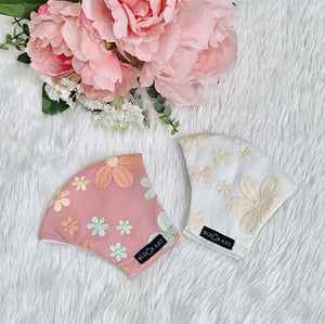 Embroidered Cute Flowers 100% Pure Cotton Mask