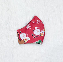 Load image into Gallery viewer, Christmas Santa Claus 100% Pure Cotton Mask