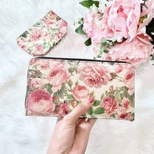 Load image into Gallery viewer, Handmade Pink Roses Faux Leather Wallet