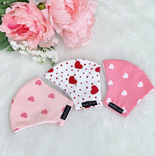 Load image into Gallery viewer, Lovely Hearts 100% Pure Cotton Mask