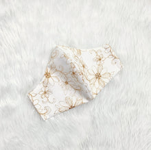 Load image into Gallery viewer, Delicate Lace Flower 100% Pure Cotton Mask w/Filter Pocket