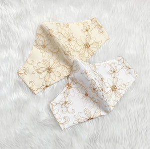 Delicate Lace Flower 100% Pure Cotton Mask w/Filter Pocket