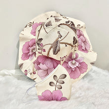 Load image into Gallery viewer, Beige Lavender Handmade Linen Hat & Mask
