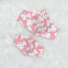 Load image into Gallery viewer, Mom & Kid Set Pink Kitty 100% Pure Cotton Mask