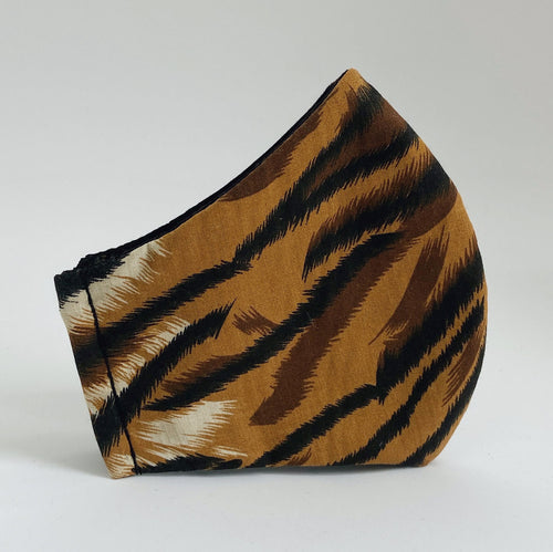 Tiger Stripes Pure Cotton Mask With Filter Pocket