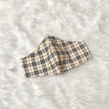 Load image into Gallery viewer, Plaid Pattern 100% Pure Cotton Mask