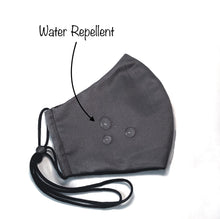 Load image into Gallery viewer, Water Repellent Mask With Adjustable Ear Loops