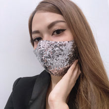 Load image into Gallery viewer, Luxurious Shiny Sequins (New Colors) 100% Pure Cotton Mask