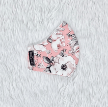 Load image into Gallery viewer, Light Sweet Pink Flowers 100% Pure Cotton Mask