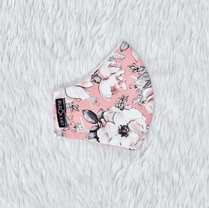 Light Sweet Pink Flowers 100% Pure Cotton Mask