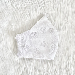Daisy Flowers (White) 100% Pure Cotton Mask