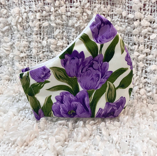Purple Tulip Flower Cotton Mask