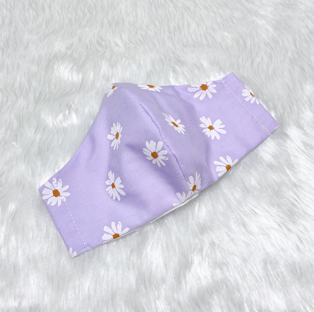 Cute Daisies 100% Pure Cotton Mask