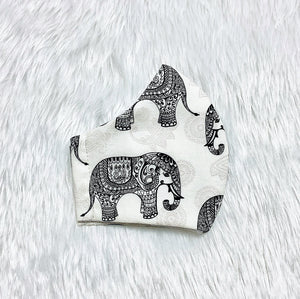 Elephant Print 100% Pure Cotton Mask