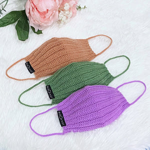 Crocheted Colorful Pure 100% Cotton Mask
