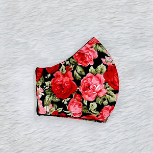 Colorful Roses 100% Pure Cotton Mask