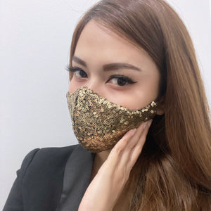 Luxurious Shiny Sequins (New Colors) 100% Pure Cotton Mask