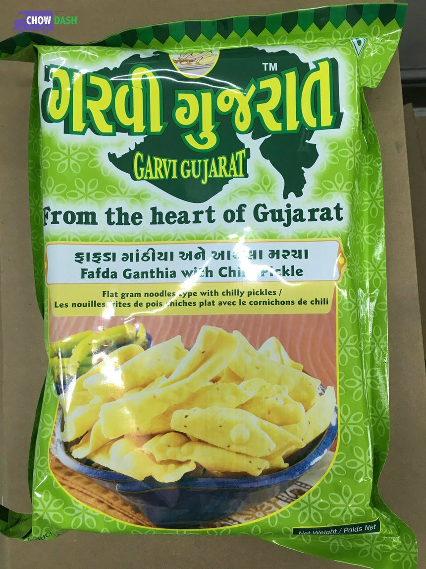 Fafda Ganthia with Chilly Pickle Garvi Gujarat (2 lbs)