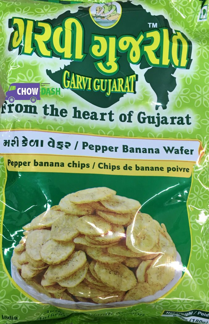 Pepper Banana Wafer Garvi Gujarat (180 gms)