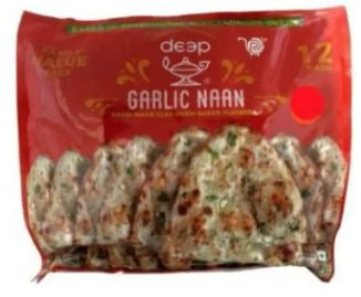 Deep Tandoori Garlic Naan Value Pack (12 pieces)