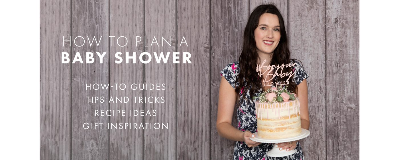 how to plan a baby shower blog with naked cake and bonjour baby showers sign