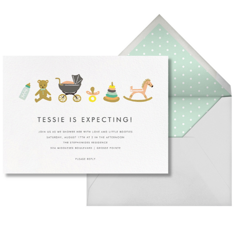 Nursery themed baby shower invitation