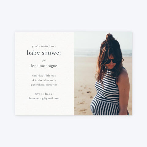 Papier Baby Shower invitation