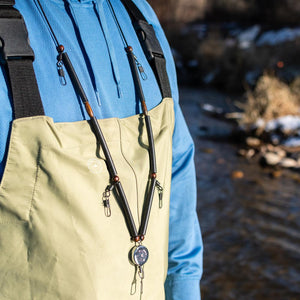 Fly Fishing Neck Lanyard w/ Zinger