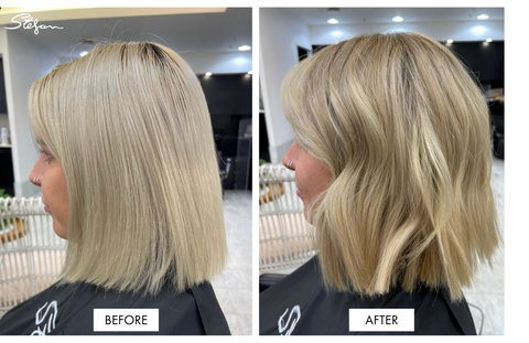 Reverse Balayage Before and After