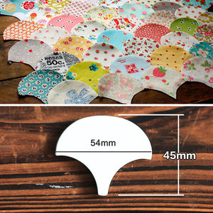 Clam Shell Piecing Template