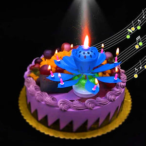Music Candle Flower