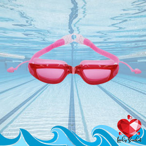 2-in-1 Anti-fog Swimming Goggles With Earplugs