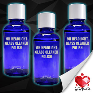 9H Headlight Glass Cleaner Polish