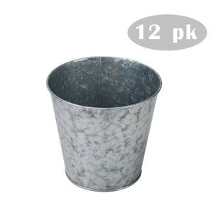 12 pk 4.1'' Metal Planter/Vase for Home, Garden, Wedding, Outdoor, Events