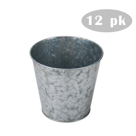 12 pk 5.12'' Metal Planter/Vase for Home, Garden, Wedding, Outdoor, Events