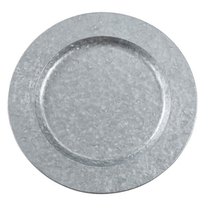 Gathery Galvanized Charger Plate 13.2''