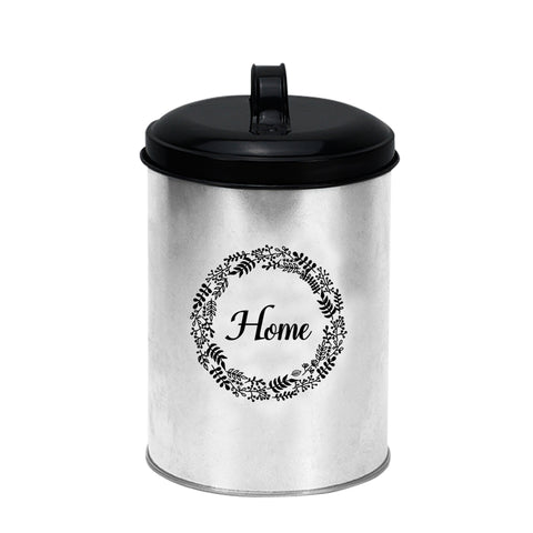 Gathery Galvanized Metal Storage Containers with Lids for Food, Kitchen, Supply, Storage and More (5.1'' Round)
