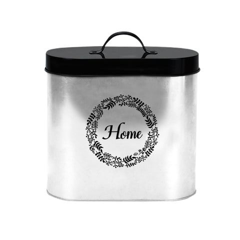 Gathery Galvanized Metal Storage Containers with Lids for Tea, Coffee, Sugar and More (7.6'' Oval)