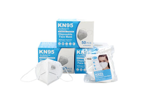 KN95 Disposable Particulate Respirator Mask (50 pcs)